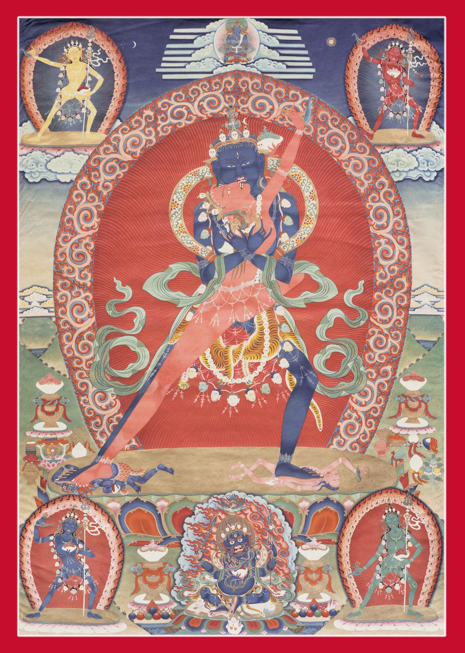 chakrasamvara thangka - artifact