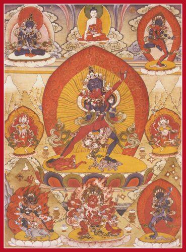 five tantra deities rgyud sde lha lnga